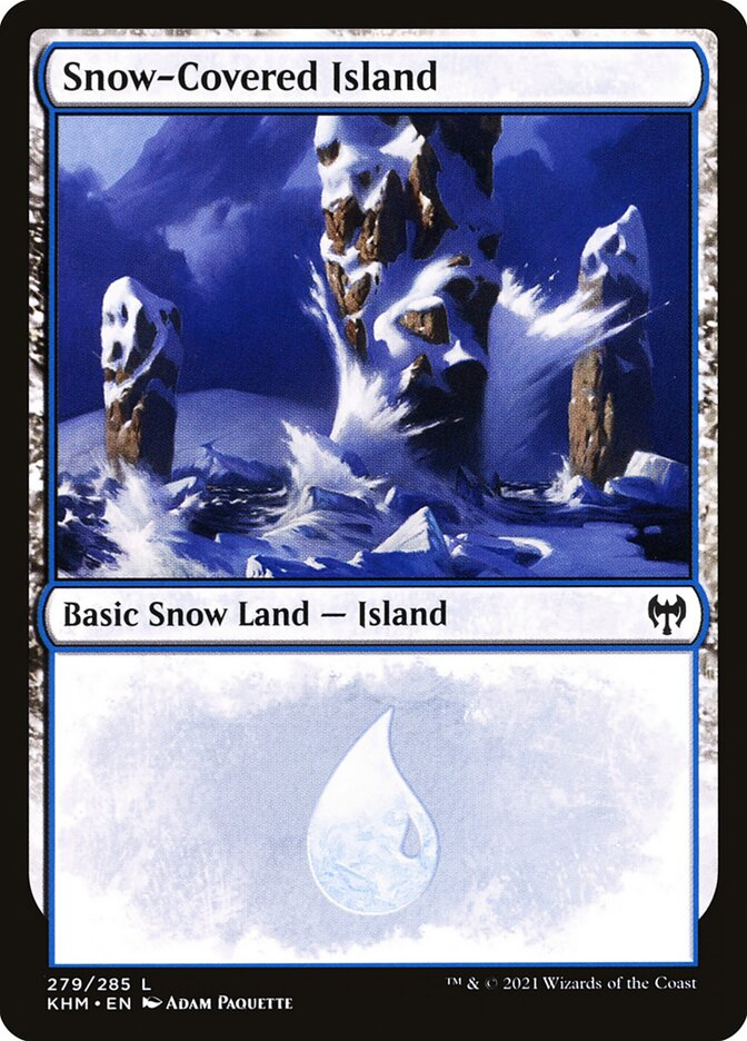 Carta /Snow-Covered Island de Magic the Gathering
