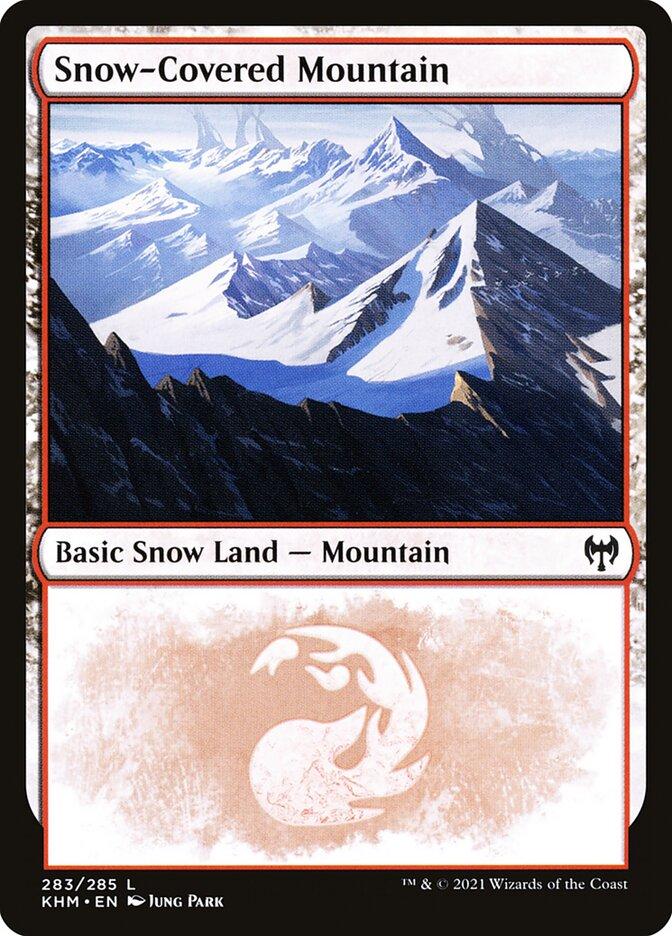Carta /Snow-Covered Mountain de Magic the Gathering