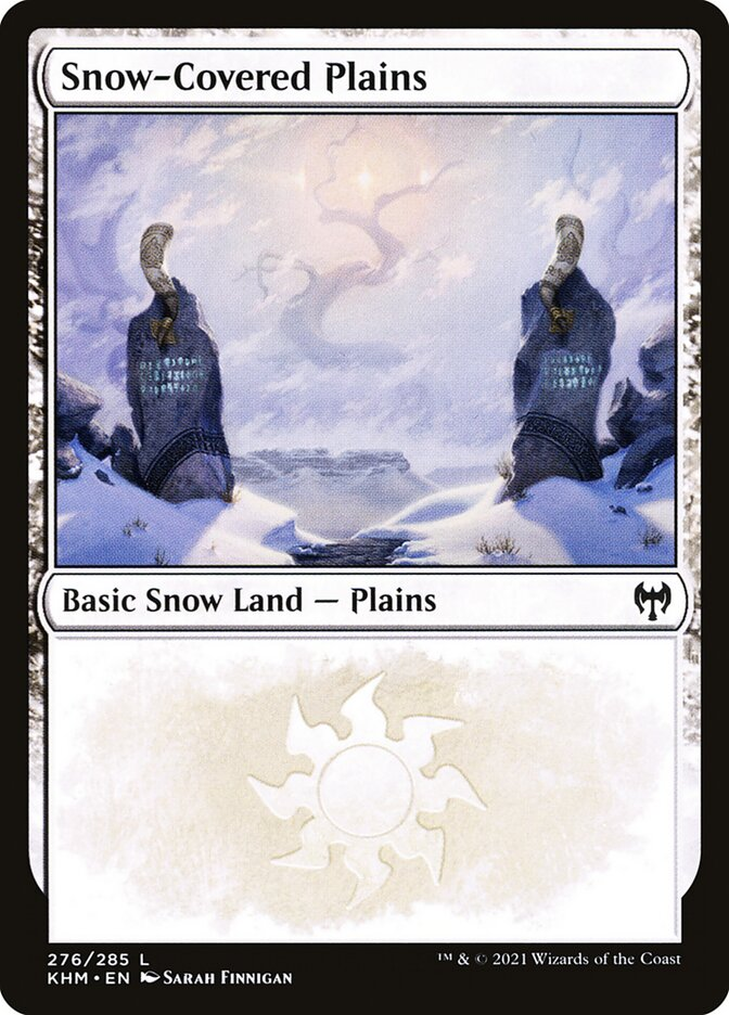 Carta /Snow-Covered Plains de Magic the Gathering