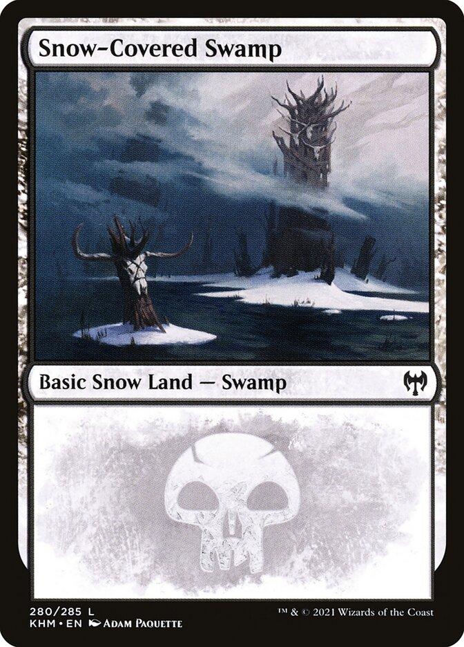 Carta /Snow-Covered Swamp de Magic the Gathering