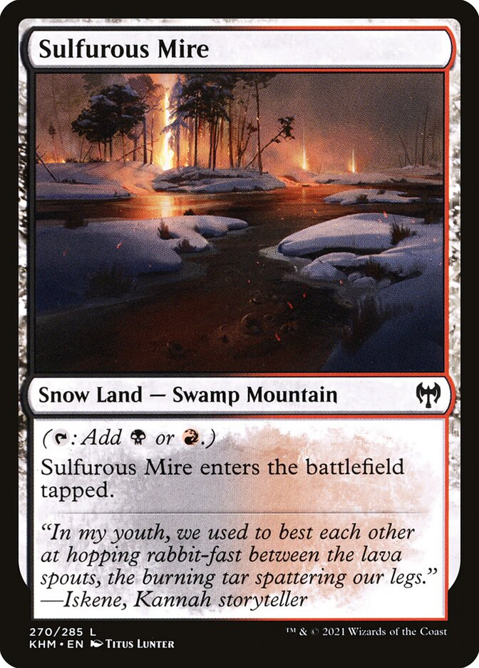 Carta /Sulfurous Mire de Magic the Gathering