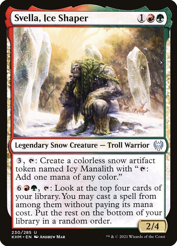 Carta /Svella, Ice Shaper de Magic the Gathering