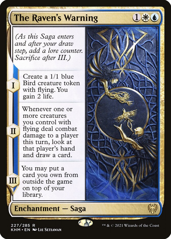 Carta /The Raven's Warning de Magic the Gathering
