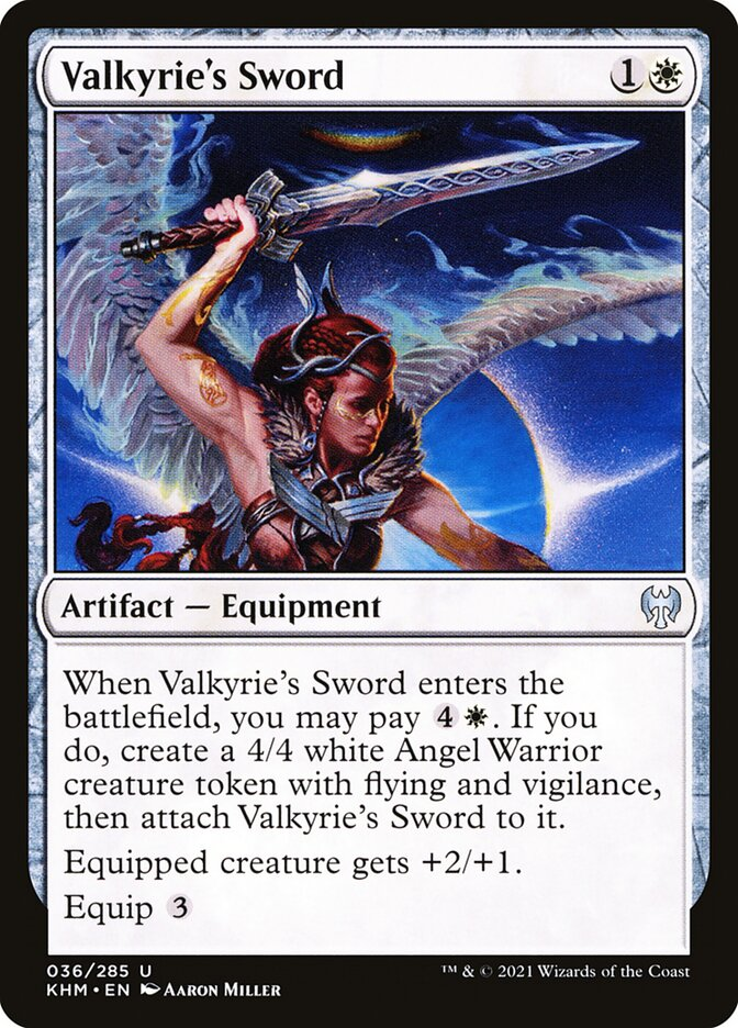 Carta /Valkyrie's Sword de Magic the Gathering