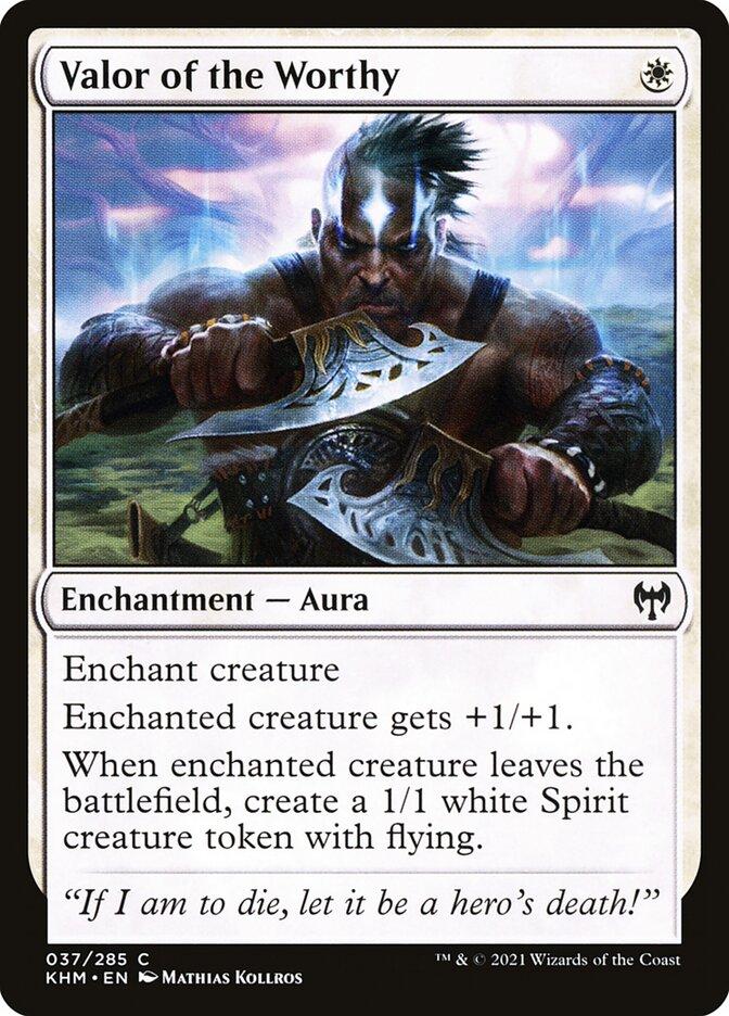 Carta /Valor of the Worthy de Magic the Gathering