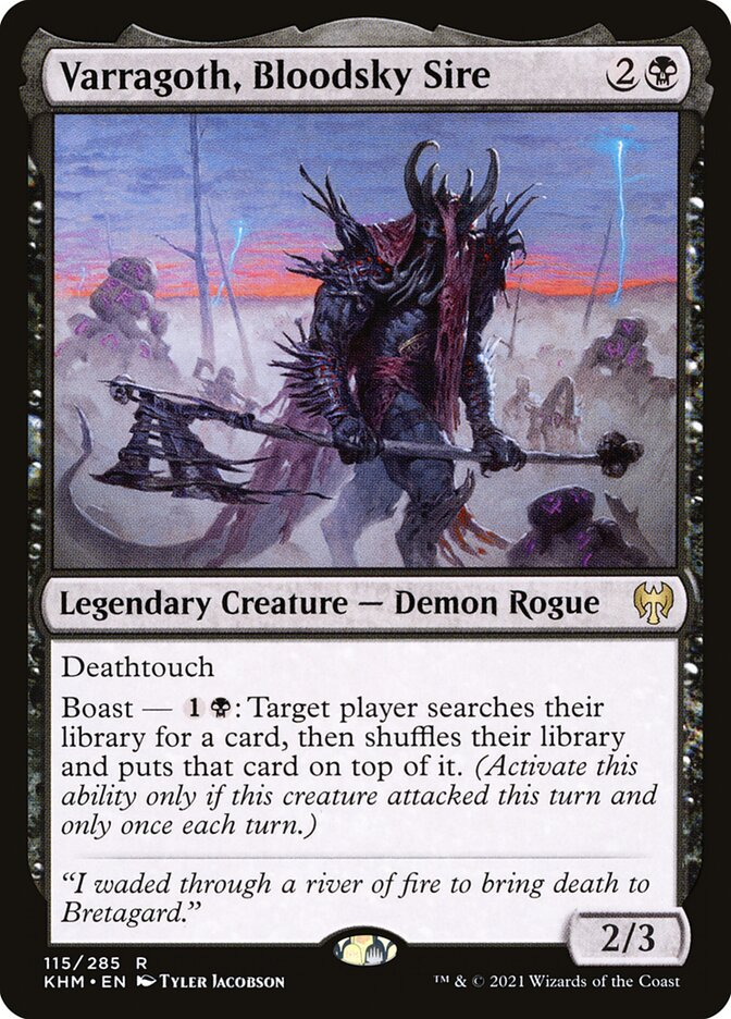 Carta /Varragoth, Bloodsky Sire de Magic the Gathering