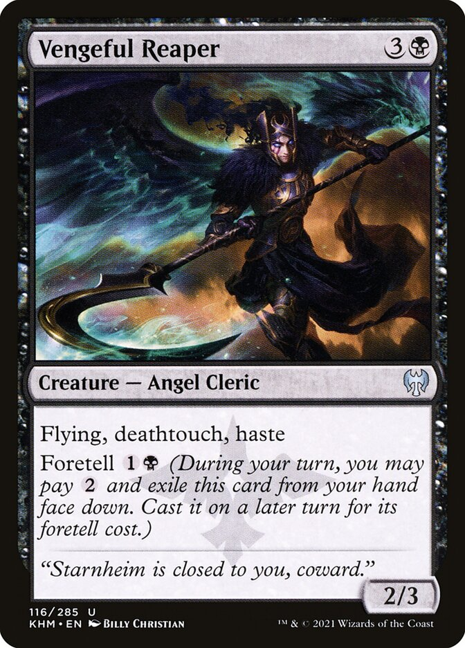Carta /Vengeful Reaper de Magic the Gathering