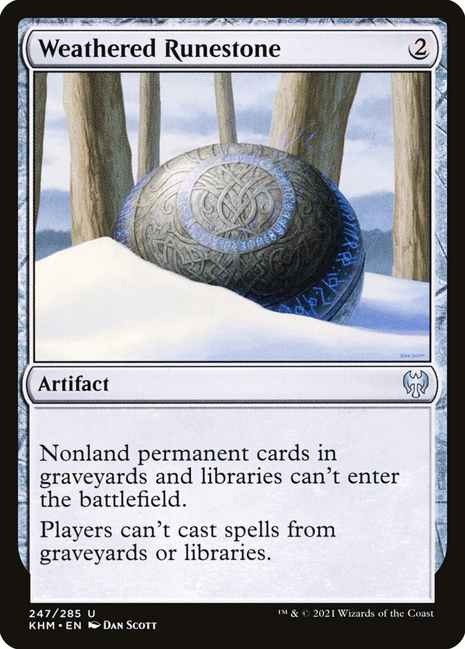 Carta /Weathered Runestone de Magic the Gathering