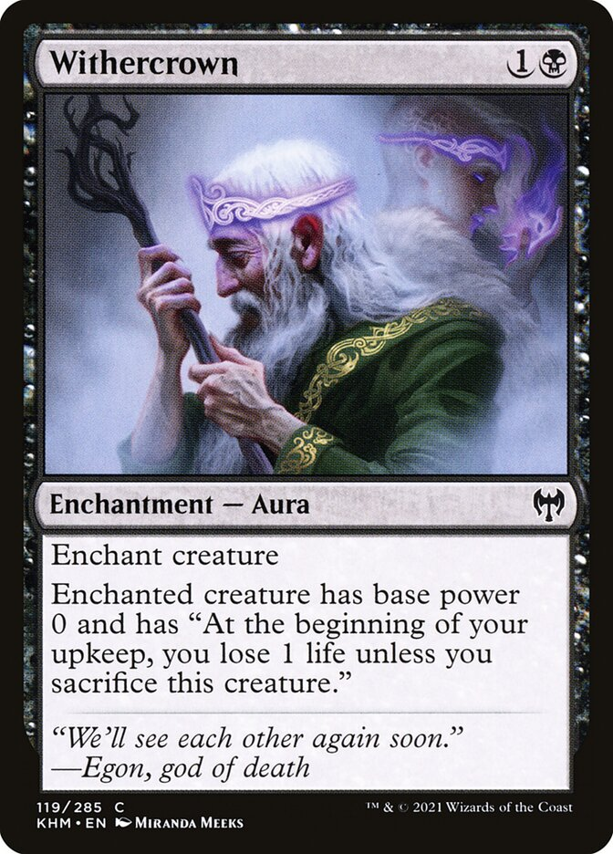 Carta /Withercrown de Magic the Gathering