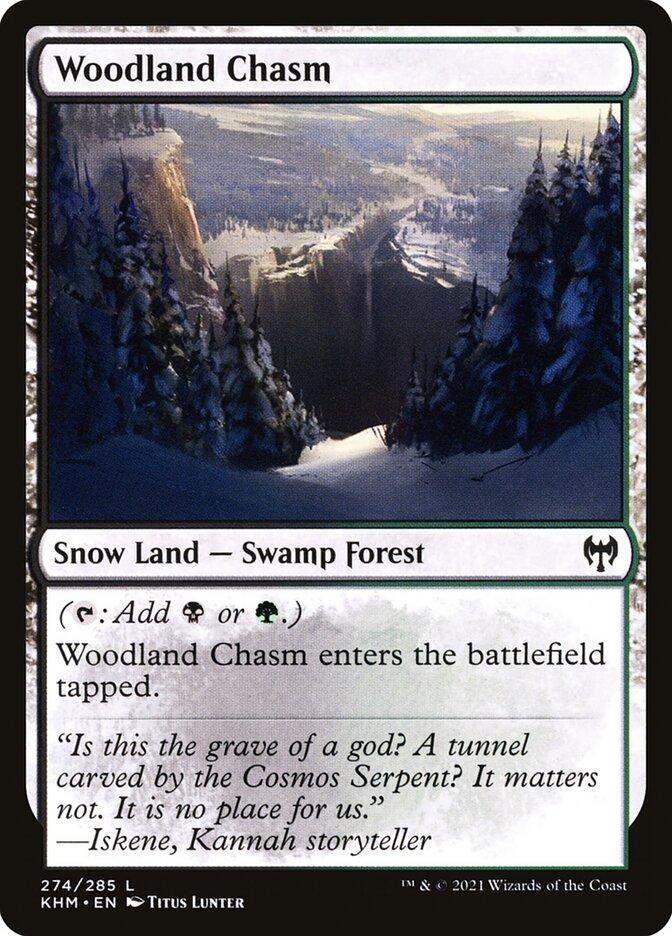 Carta /Woodland Chasm de Magic the Gathering