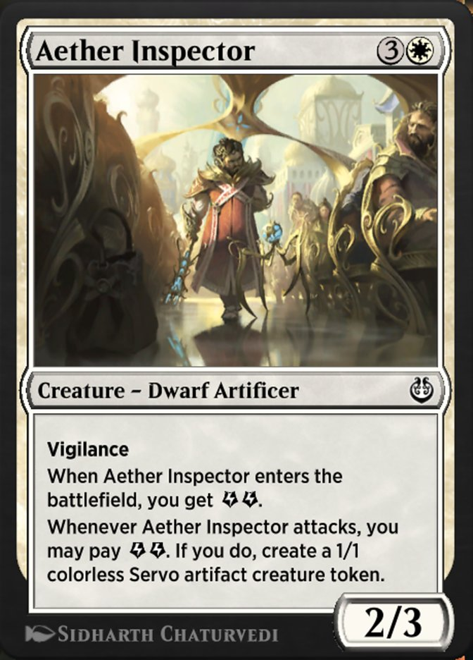 Carta /Aether Inspector de Magic the Gathering