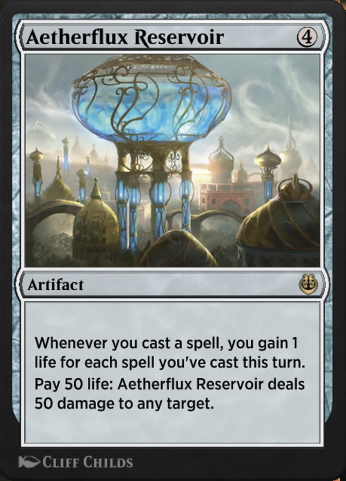 Carta /Aetherflux Reservoir de Magic the Gathering