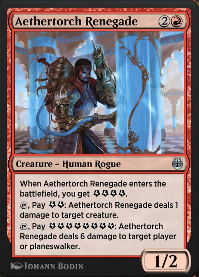 Carta /Aethertorch Renegade de Magic the Gathering