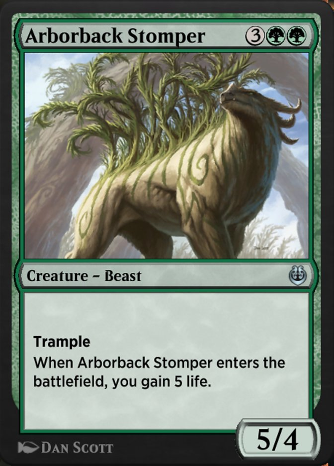 Carta /Arborback Stomper de Magic the Gathering