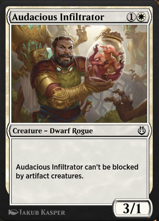 Carta /Audacious Infiltrator de Magic the Gathering