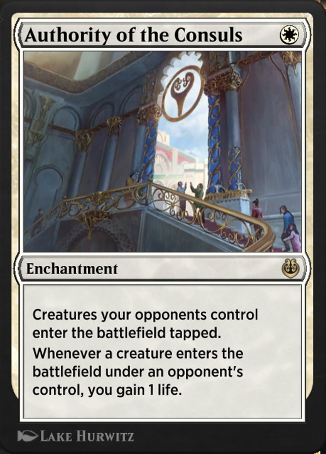 Carta /Authority of the Consuls de Magic the Gathering