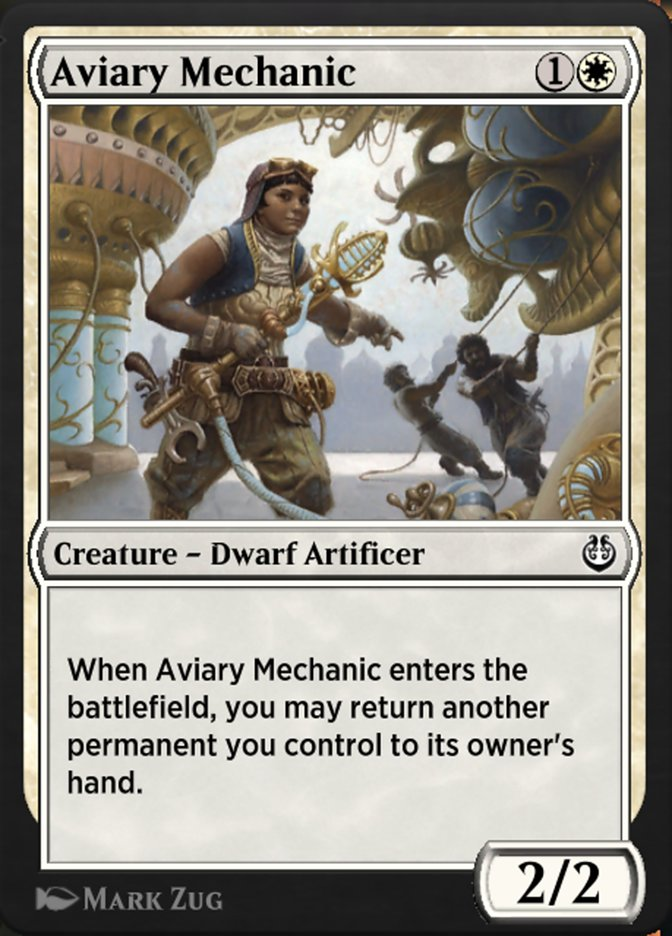 Carta /Aviary Mechanic de Magic the Gathering