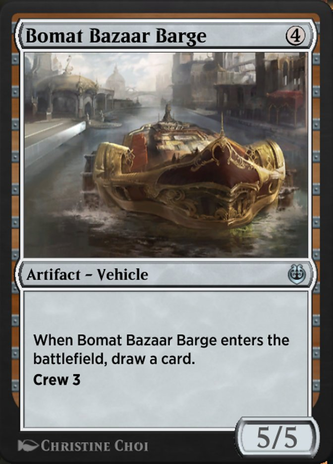 Carta /Bomat Bazaar Barge de Magic the Gathering