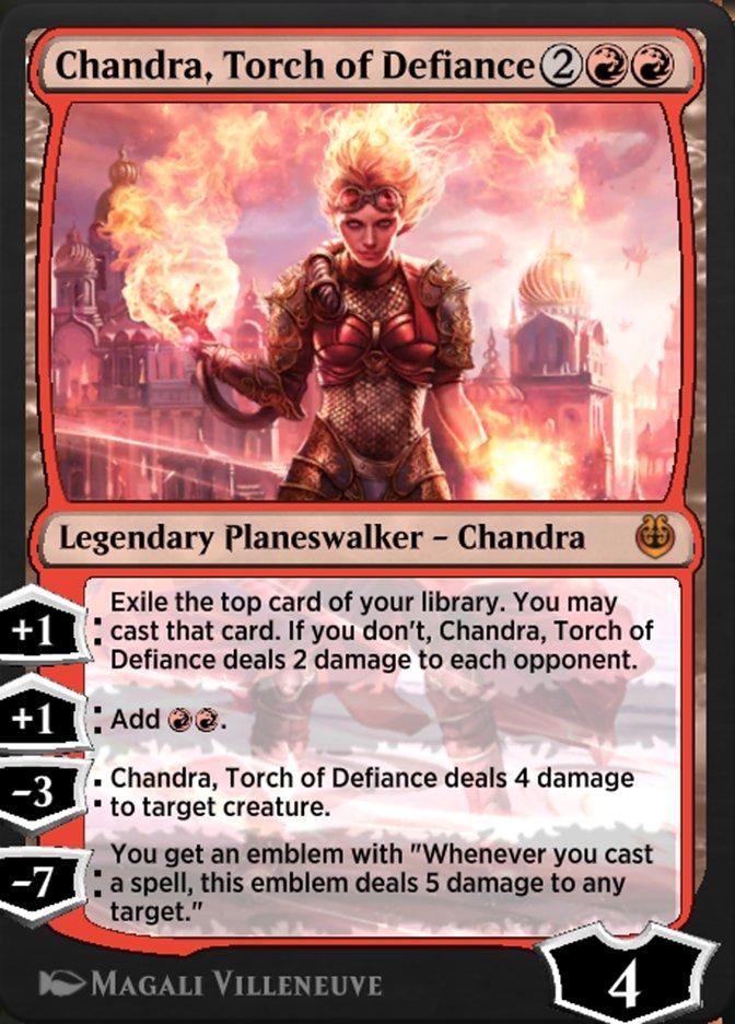 Carta /Chandra, Torch of Defiance de Magic the Gathering