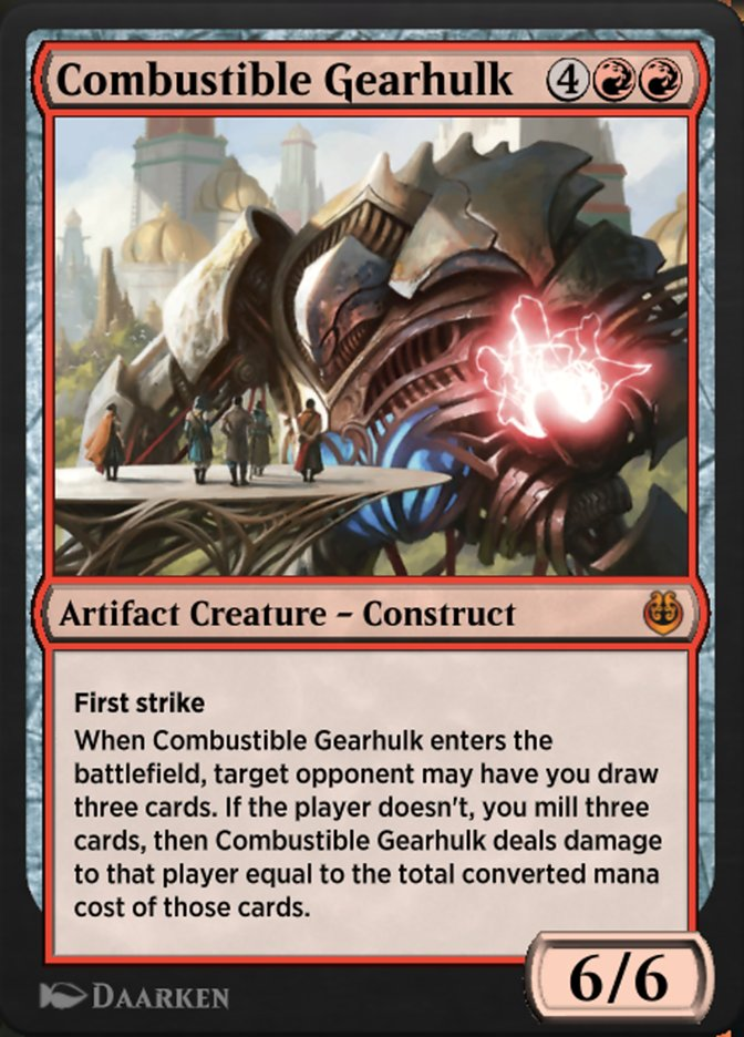Carta /Combustible Gearhulk de Magic the Gathering