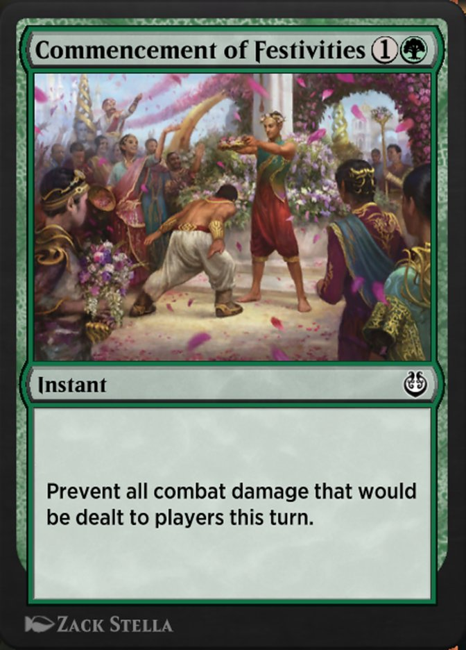 Carta /Commencement of Festivities de Magic the Gathering