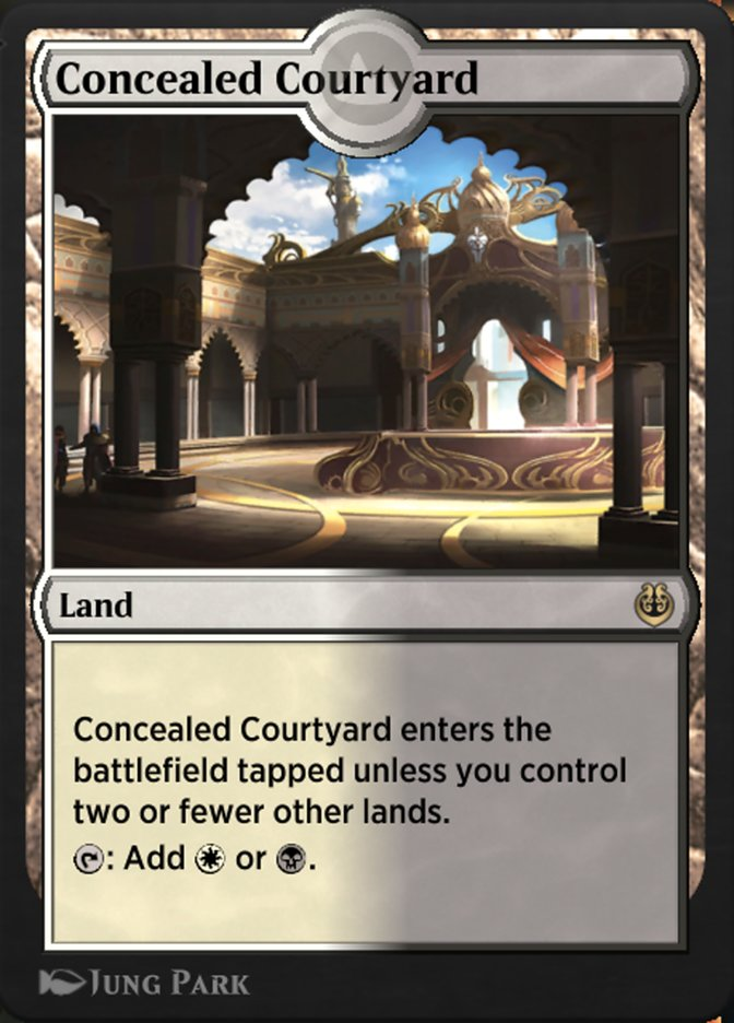 Carta /Concealed Courtyard de Magic the Gathering