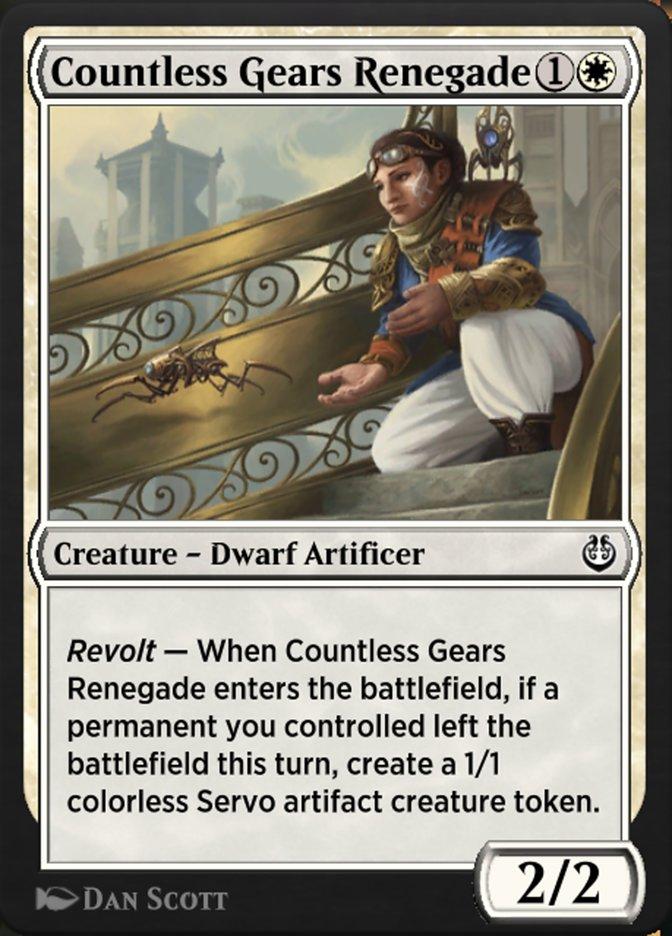 Carta /Countless Gears Renegade de Magic the Gathering