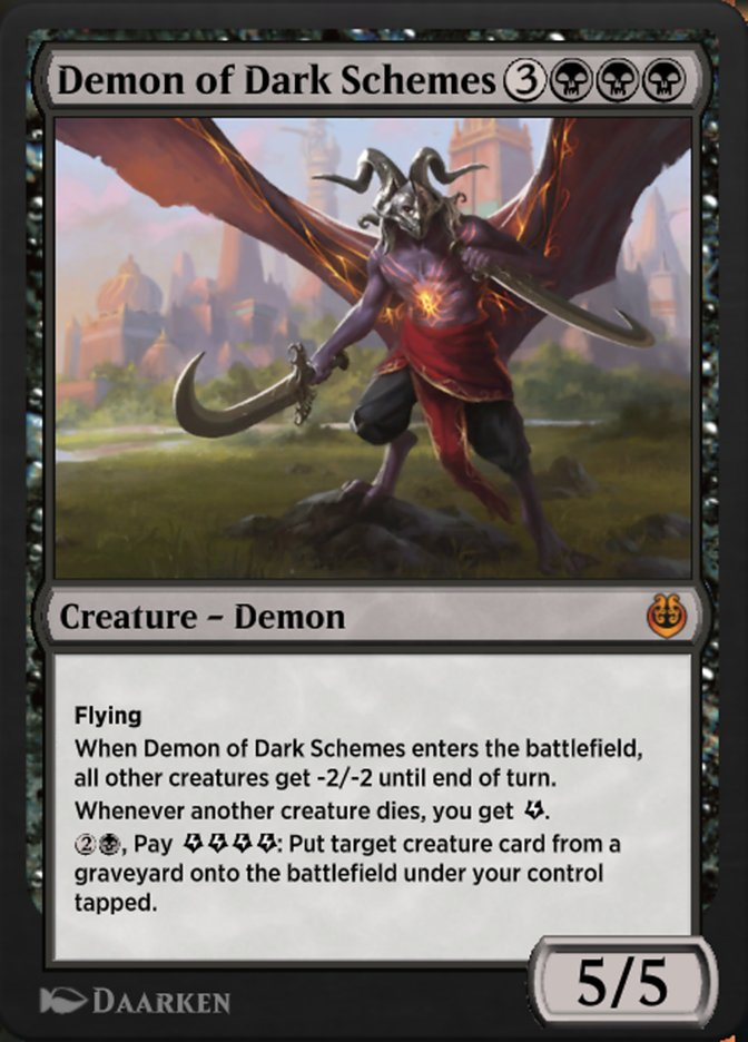 Carta /Demon of Dark Schemes de Magic the Gathering