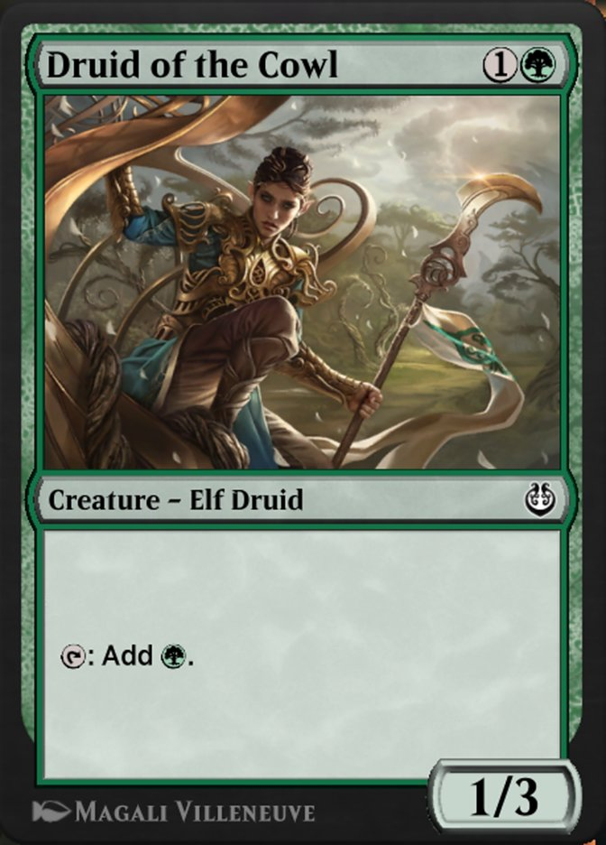 Carta /Druid of the Cowl de Magic the Gathering
