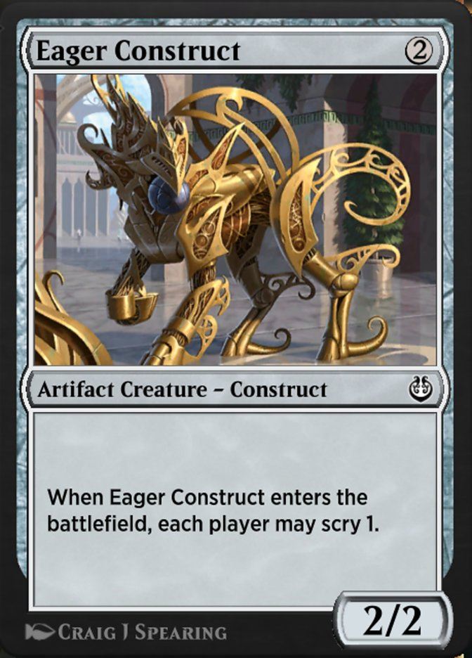 Carta /Eager Construct de Magic the Gathering