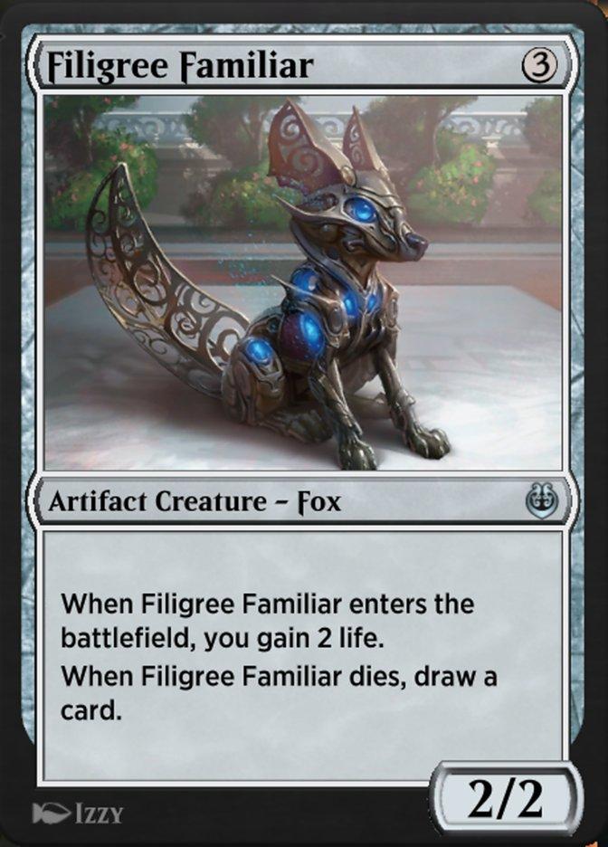 Carta /Filigree Familiar de Magic the Gathering