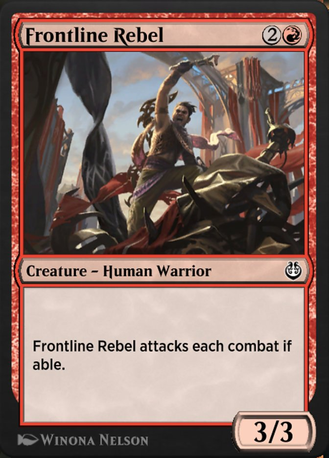 Carta /Frontline Rebel de Magic the Gathering