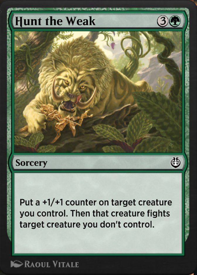 Carta /Hunt the Weak de Magic the Gathering