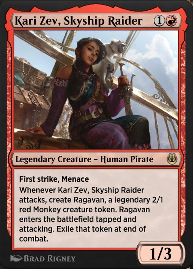 Carta /Kari Zev, Skyship Raider de Magic the Gathering