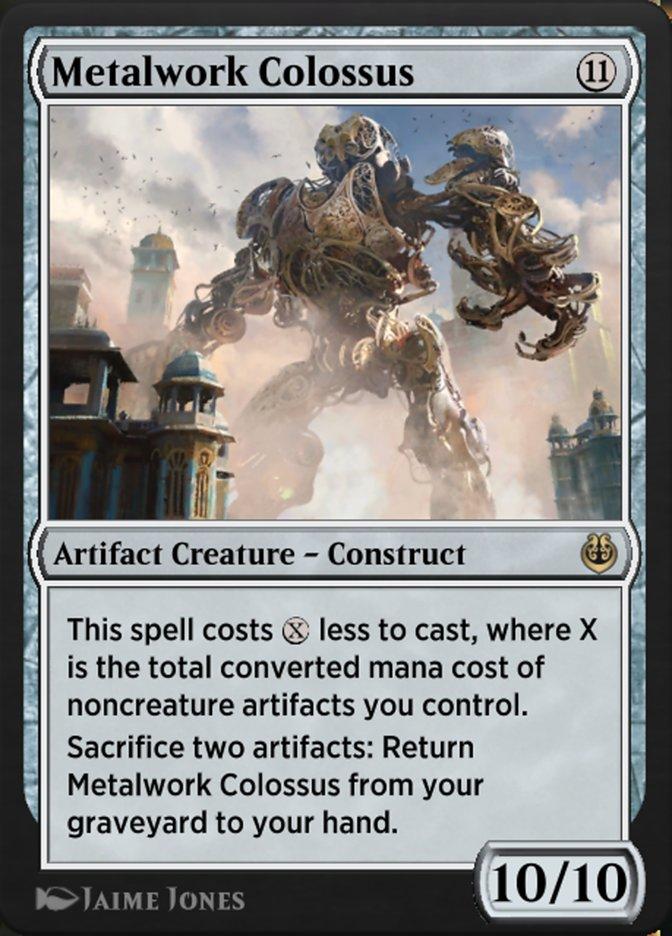 Carta /Metalwork Colossus de Magic the Gathering