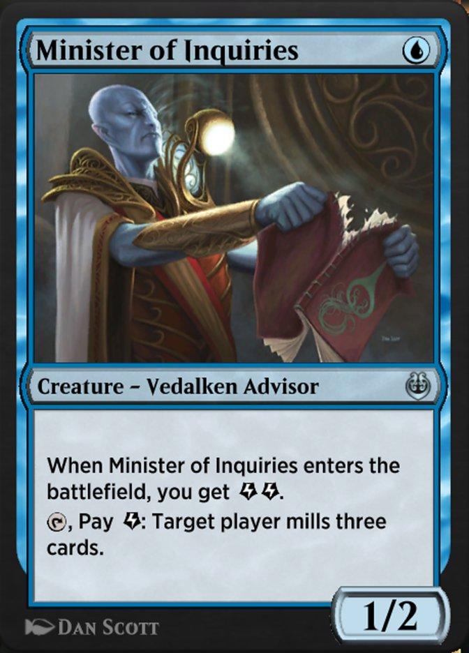 Carta /Minister of Inquiries de Magic the Gathering