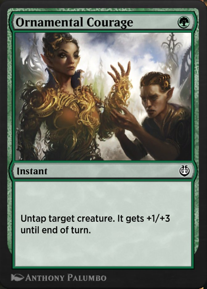 Carta /Ornamental Courage de Magic the Gathering
