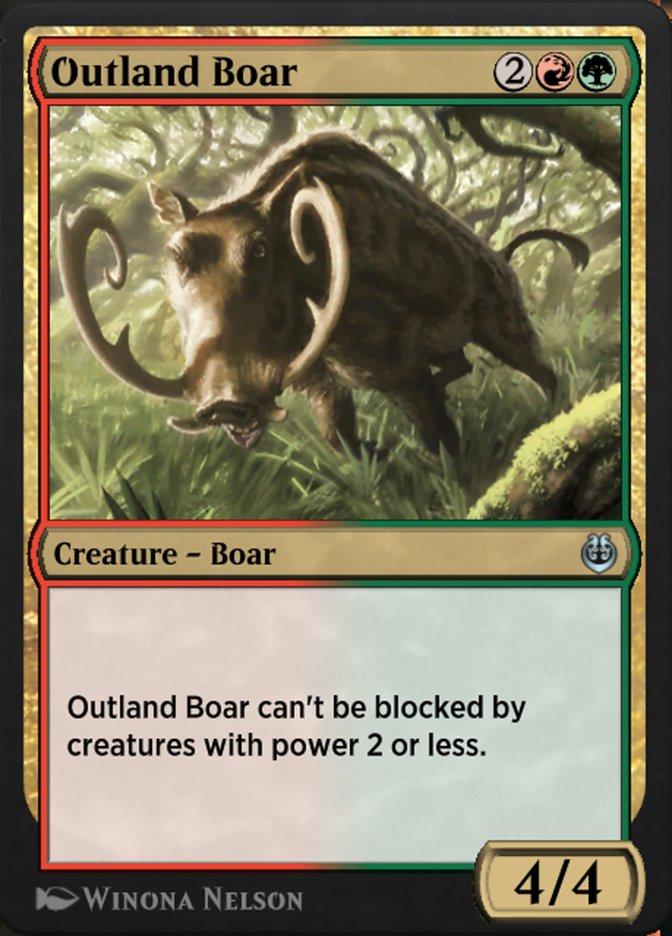 Carta /Outland Boar de Magic the Gathering