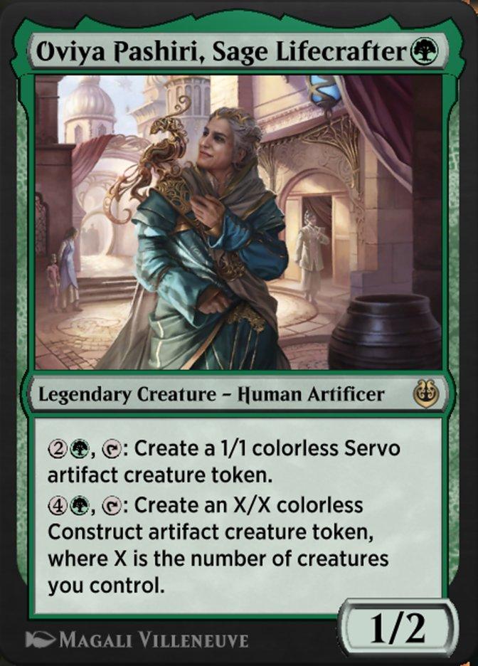 Carta /Oviya Pashiri, Sage Lifecrafter de Magic the Gathering