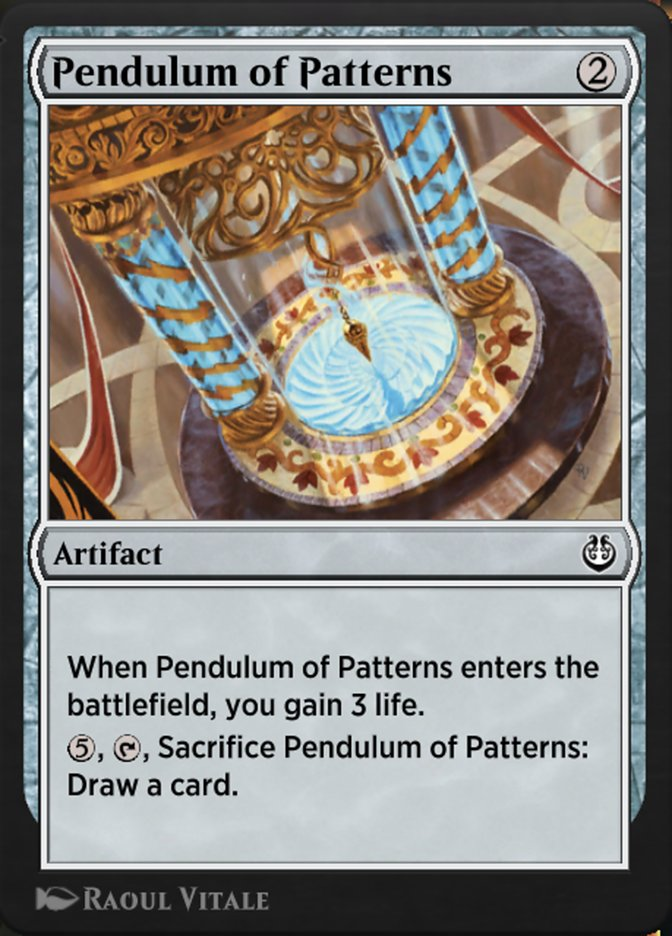 Carta /Pendulum of Patterns de Magic the Gathering