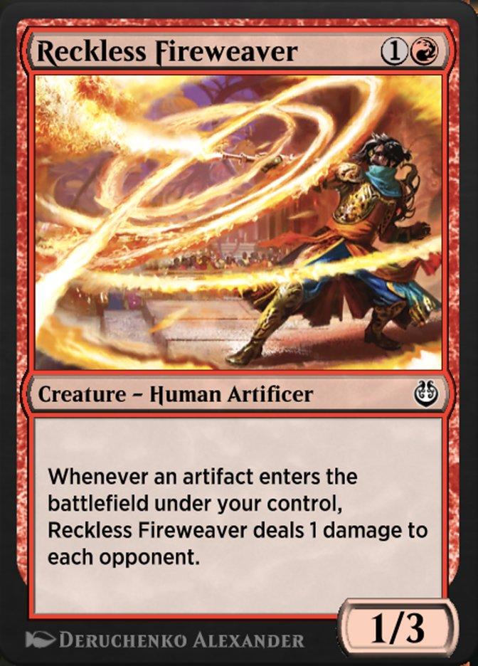 Carta /Reckless Fireweaver de Magic the Gathering