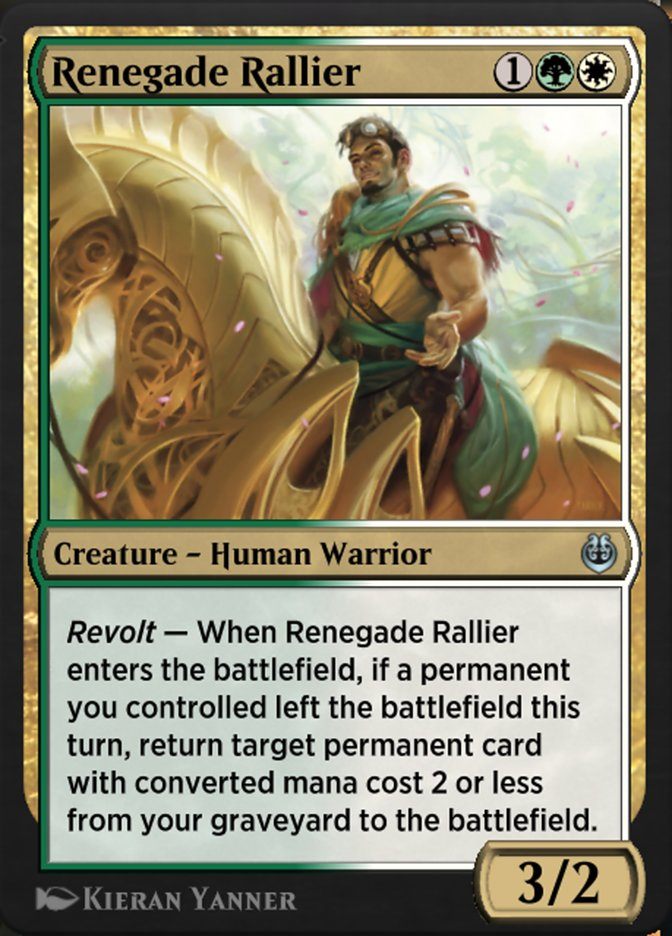 Carta /Renegade Rallier de Magic the Gathering