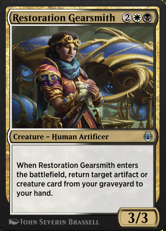 Carta /Restoration Gearsmith de Magic the Gathering