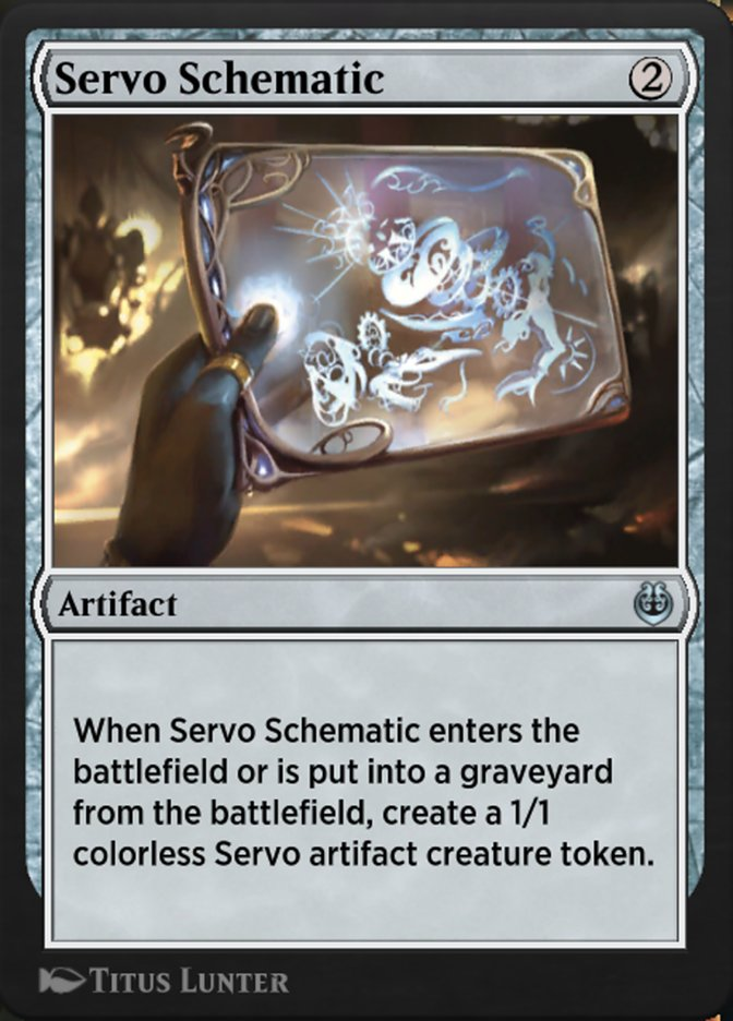Carta /Servo Schematic de Magic the Gathering