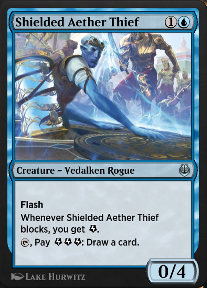 Carta /Shielded Aether Thief de Magic the Gathering