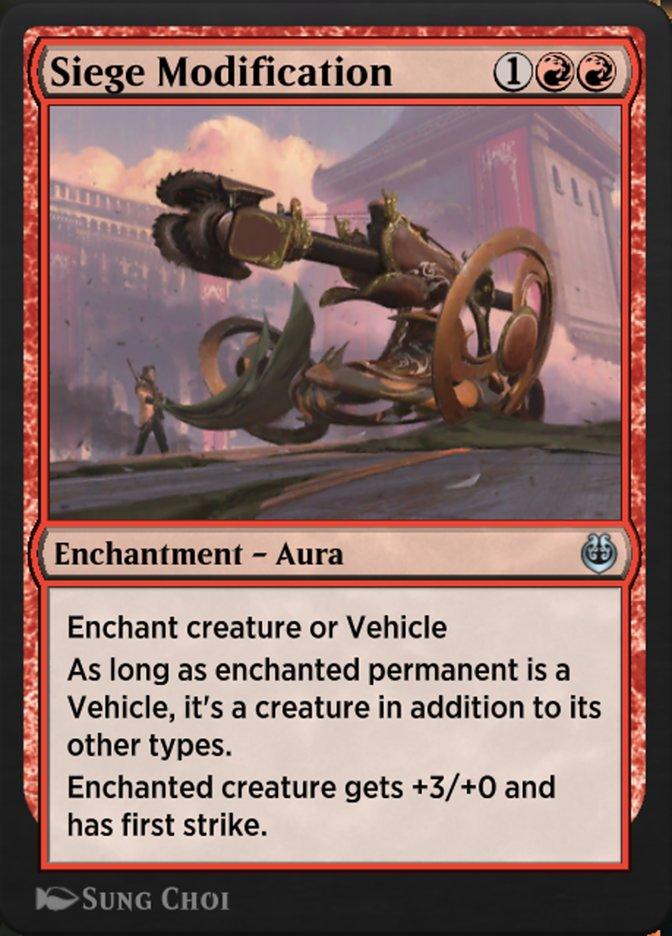 Carta /Siege Modification de Magic the Gathering