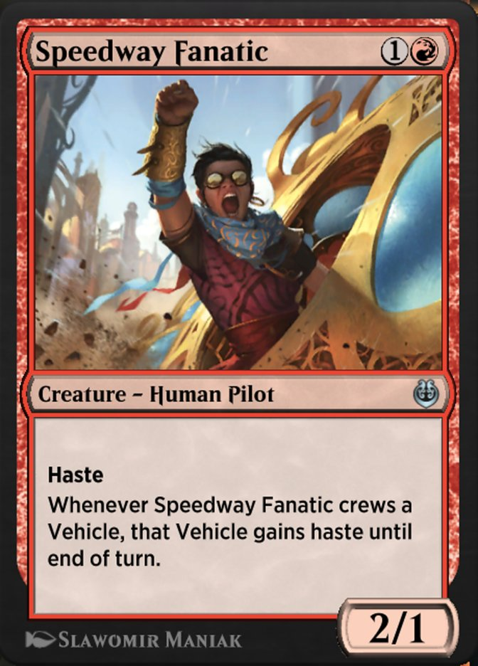 Carta /Speedway Fanatic de Magic the Gathering