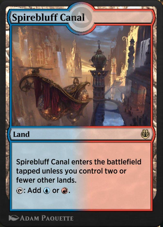 Carta /Spirebluff Canal de Magic the Gathering