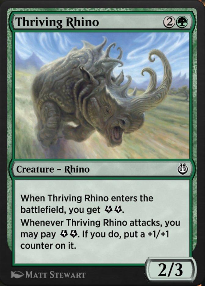 Carta /Thriving Rhino de Magic the Gathering