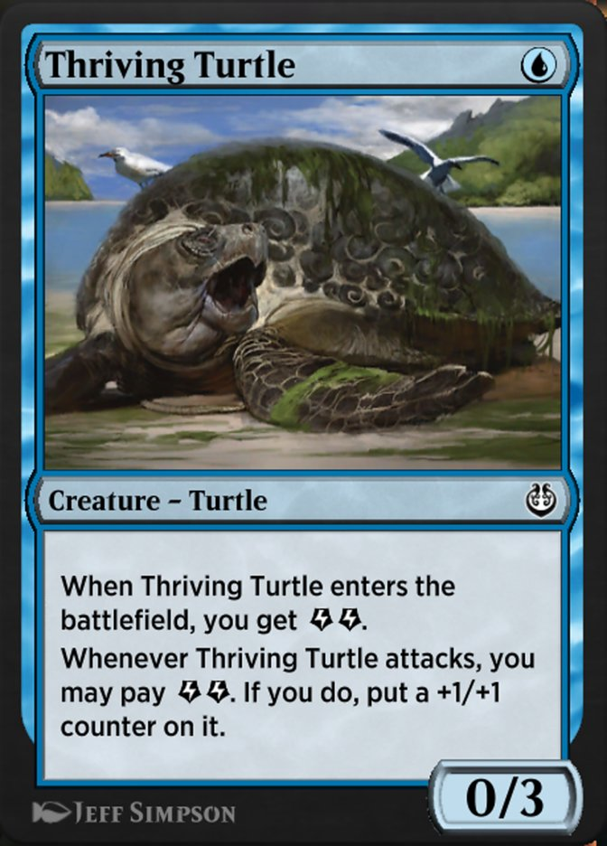 Carta /Thriving Turtle de Magic the Gathering
